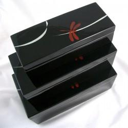Set de 3 Boîtes noires laquées Son Chuon
