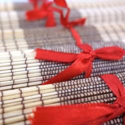Pack cravate en soie noire + pochette + boutons assortis