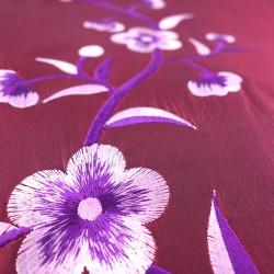 Chemin de table en taffetas de soie rose