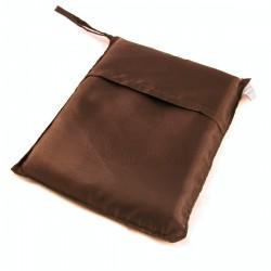 Sac de couchage individuel en soie marron chocolat