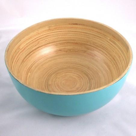Saladier en bambou bleu turquoise Sa Lat - M