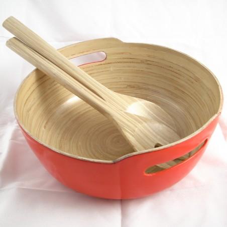 Saladier en bambou orange Hai Quai