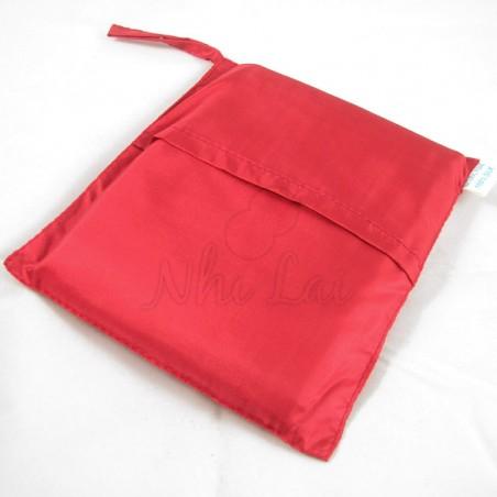 Sac de couchage individuel en soie rouge