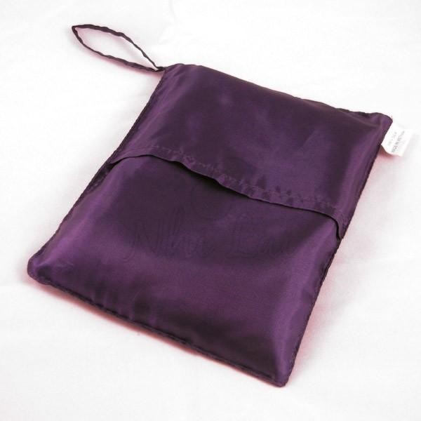 Sac de couchage individuel en soie violet