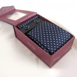 Pack cravate en soie bleue...