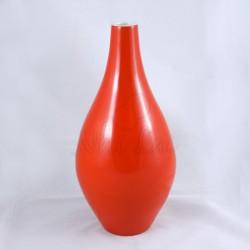 Vase en céramique laqué orange Lo Bau
