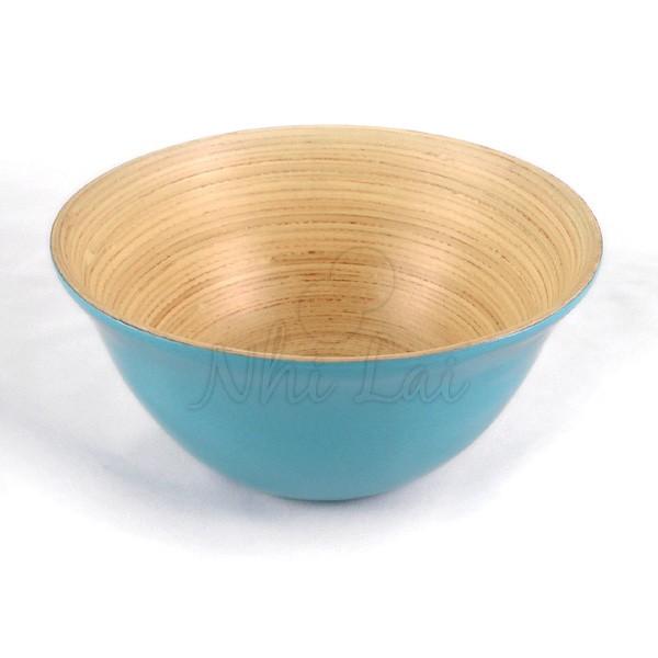 Bol en bambou bleu turquoise Hoa Sen