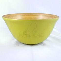 Grand bol en bambou vert anis Hoa Sen