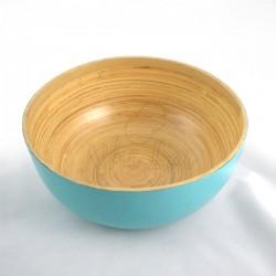 Saladier en bambou bleu turquoise Sa Lat - S