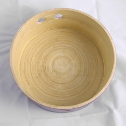 Plateau en bambou violet Bôn Lô