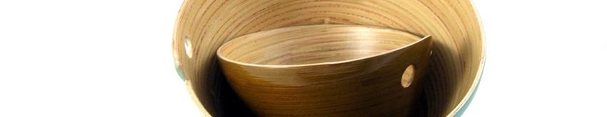 Bols en bambou laqués du Vietnam - Collection Déco Zen
