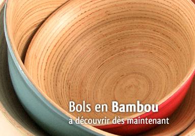 Bols en bambou